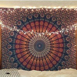 BOHO Mandela Tapestry Wall Art Hanging Bed Cover